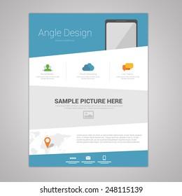 Flat angle design newsletter template