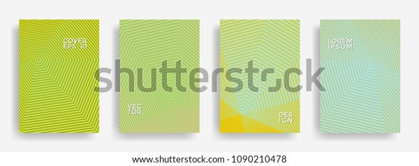 Flat Annual Report Design Vector Collection Stock Image