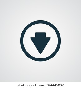 Flat Arrow Down icon