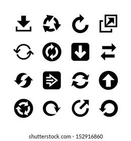 Flat arrow web icons. Icon set