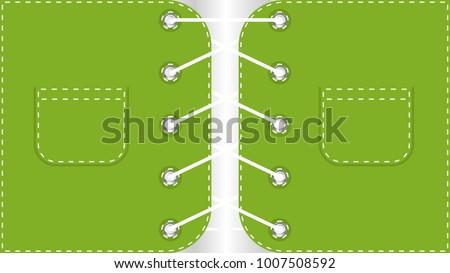 flat background shoelace