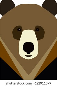 flat bear icon. vector illustration