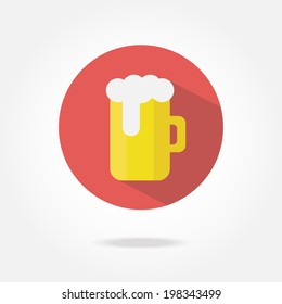 Flat beer icon.