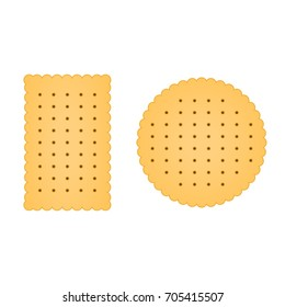 Flat biscuit icon. Biscuit vector