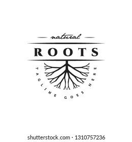 flat black geometric natural roots logo icon vector template