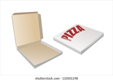 Flat box with lid and lock pizza