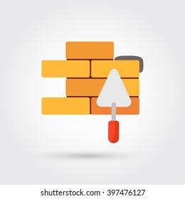 flat brickwork icon
