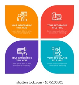 Education program images stock photos vectors shutterstock flat business education infographic timeline template with floral shape for presentations advertising annual colourmoves