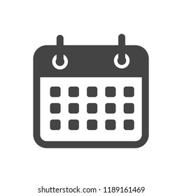 Flat calendar Icon. Calendar on the wall. Vector illustration.