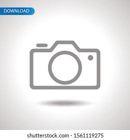 Flat Camera icon vector symbol