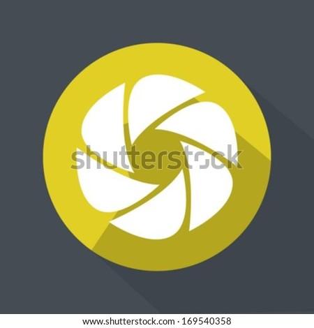 flat camera shutter icon のベクター画像素材 ロイヤリティフリー