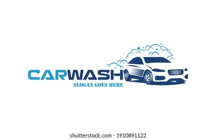 Flat car wash logo background. Best logo