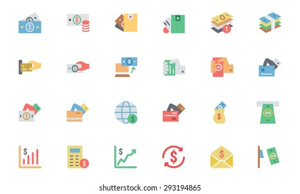 Flat Card Payment Vector Icons 4