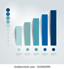 Flat chart, graph. Simply editable. Info graphics element.