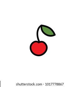 Flat cherry icon.