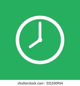 Flat clock icon. Time icon.