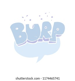 flat color illustration of burp