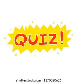 flat color illustration cartoon quiz symbol