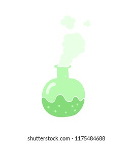 flat color illustration of chemical reaction