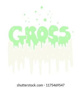 flat color illustration of gross symbol