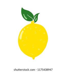 flat color illustration of lemon