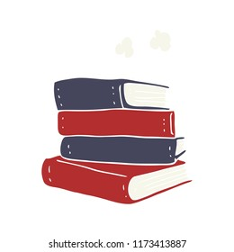 flat color illustration of stack of books