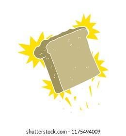 flat color illustration of toast