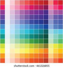 Flat color palette, vector