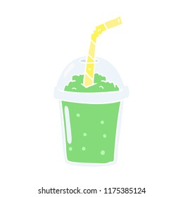 flat color style cartoon iced smoothie