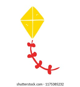 flat color style cartoon kite