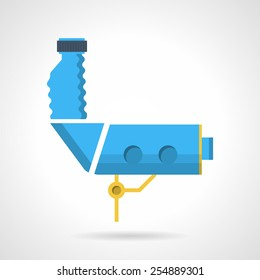 Flat color vector icon for blue equipment for colposcopy on white background.