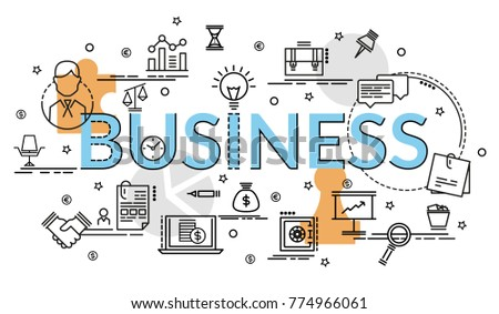 flat colorful design concept business infographic stock vector