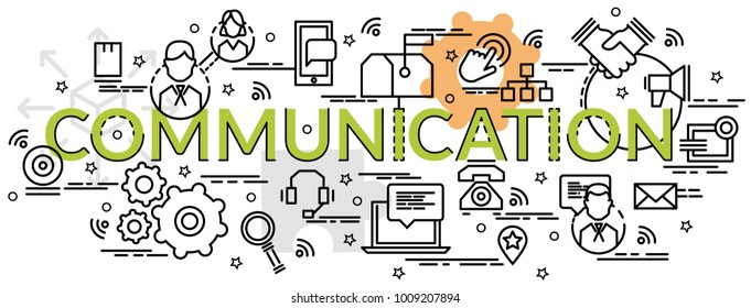 flat colorful design concept communication infographic stock vector