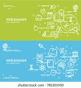 Flat colorful design concept of Knowledge. Infographic idea of making creative products.