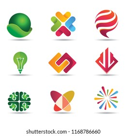 flat colorful logo design inspiration