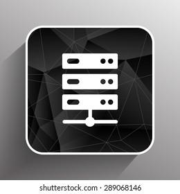 Flat Computer Server system icon vector illustration.