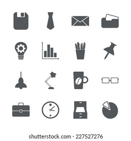 Flat concept, set modern design with shadow icons for web design and mobile applications, SEO. search Engine Optimization:  office icons