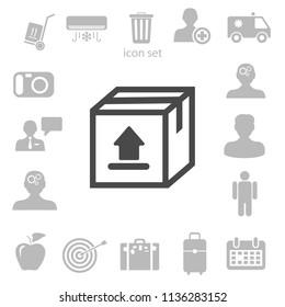 Flat corgo icon, vector illustration