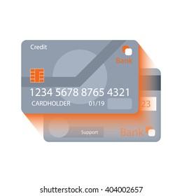 Flat credit card