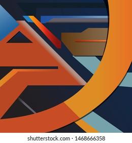 Flat design abstrak wallpaper vector