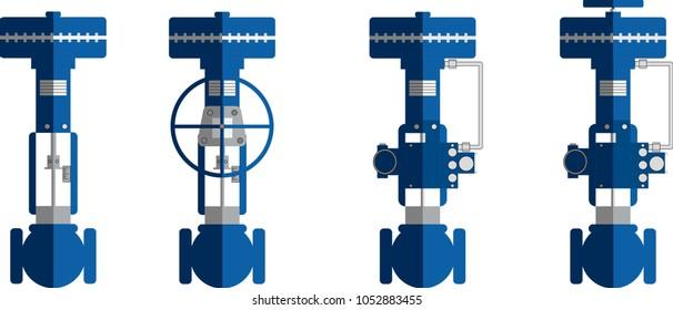 Flat design Actuators Control valve with Handle