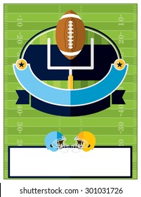 A flat design American Football flyer, invitation, or poster. Room for copy. Vector EPS 10.