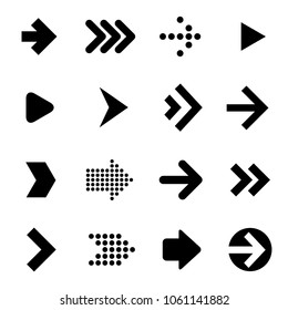 Flat design arrow icon set. Vector.