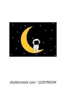 flat design astronot