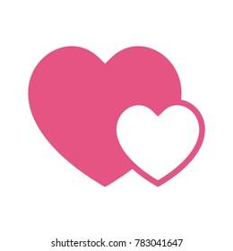 flat design best love vector illustration, love icon, heart vector icon, love symbol