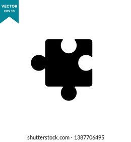 flat design best puzzle vector icon