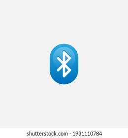 Flat design Bluetooth icon, bluetooth vector illustration, isolated on white background