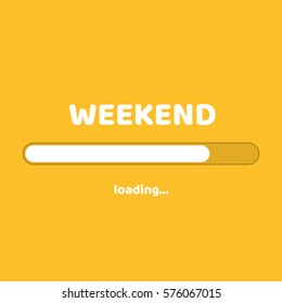 Flat design. Business concept. Vector illustration. Loading weekend