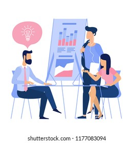 Flat design business and management inspiration and solution illustration concept.