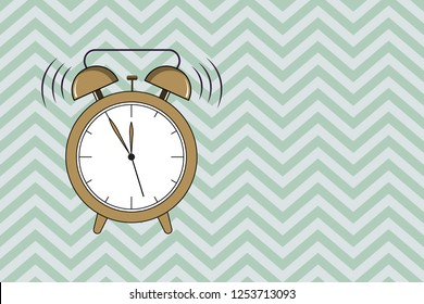Flat design business Vector Illustration Empty template esp isolated Minimalist graphic layout template for advertising Classical Twin Bell Analog Alam Clock with Extra Hand Ringing Sound icon